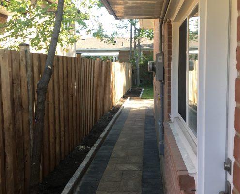 Wooden fence installer