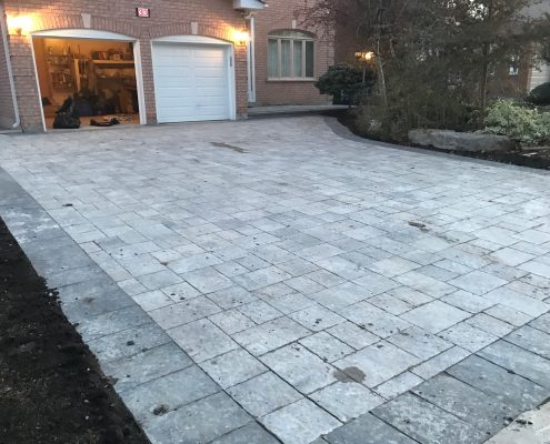 interlocking driveway installation