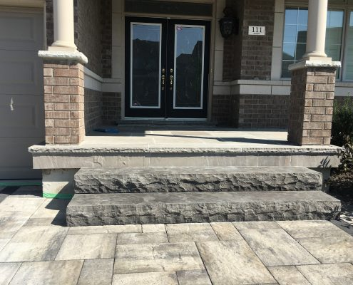 natural stone flagstone porch
