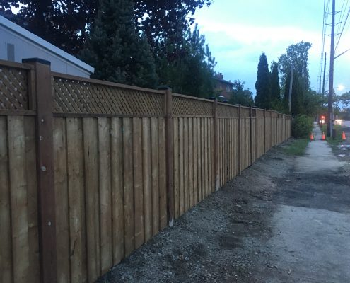 Fence, 6x6 post, fence design