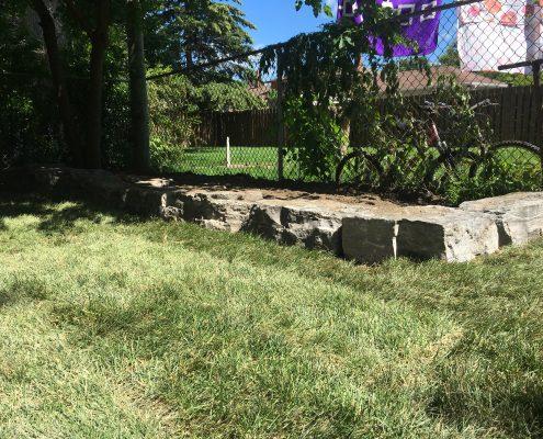 armour stone garden bed