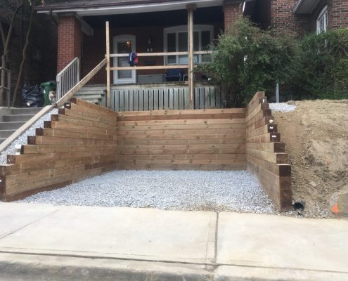 timber wood retaining wall
