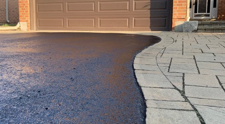 Image depicts a sealed residential driveway.