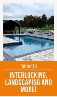 Interlocking landscaping banner